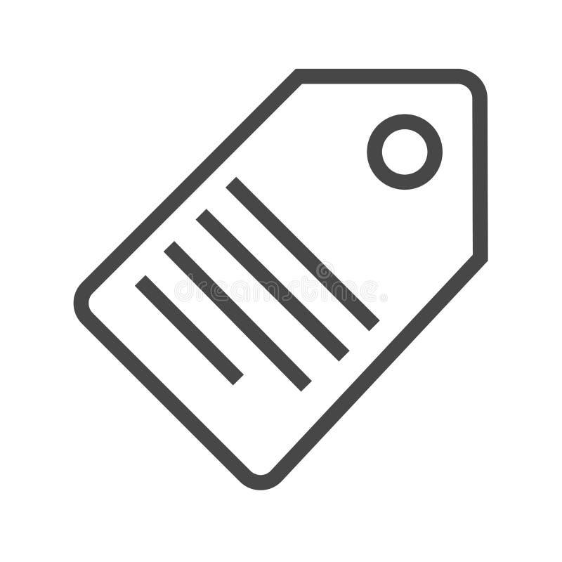 Tag-dünne Linie Vektor-Ikone vektor abbildung