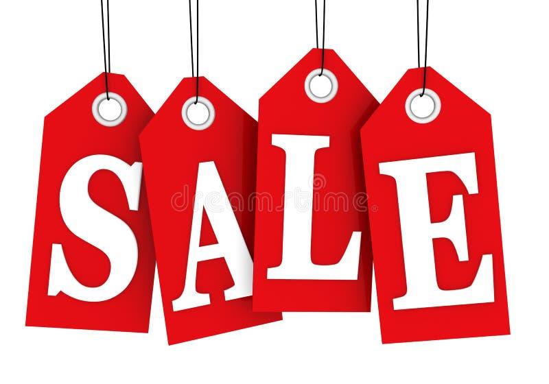 Tag da venda ilustração stock
