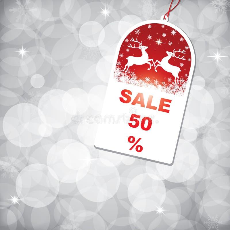 Tag da venda do Natal ilustração royalty free