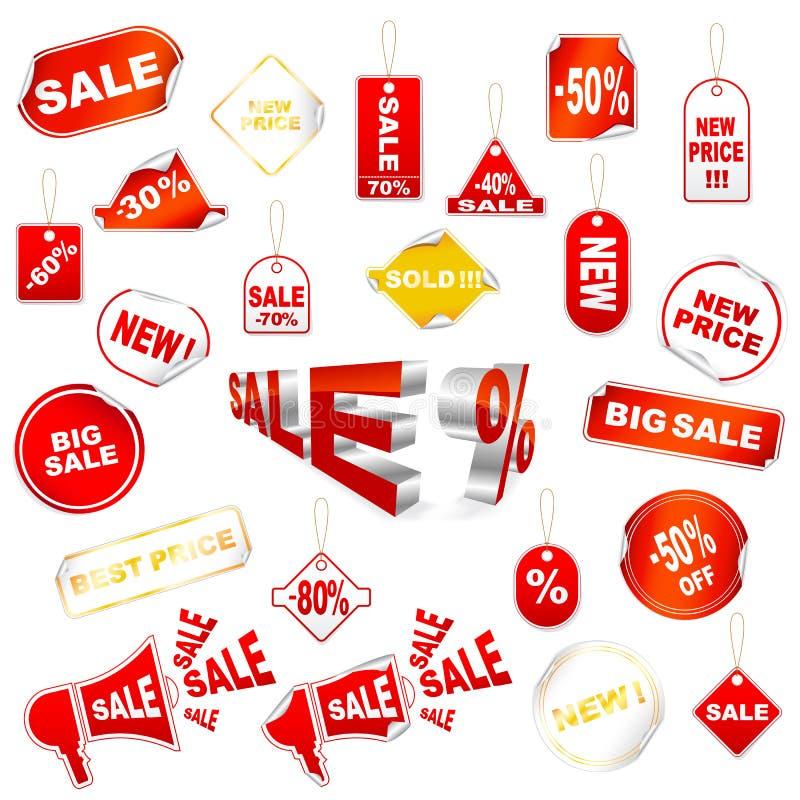 Tag da venda do vetor ilustração stock