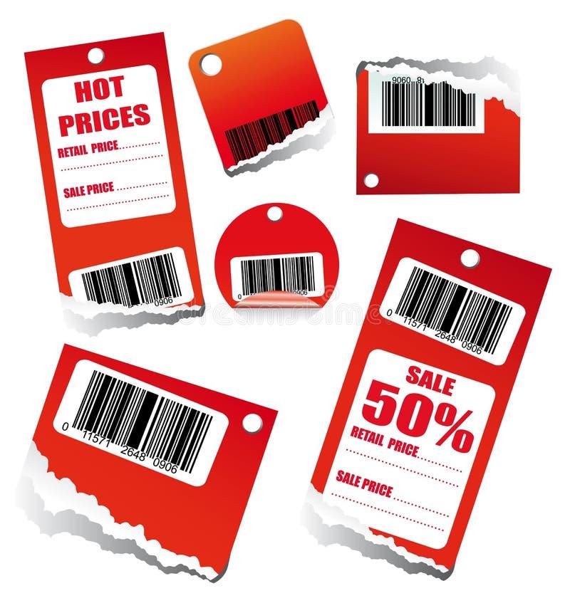 Tag das vendas com código de barras ilustração royalty free