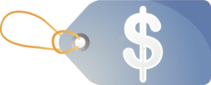 Tag das vendas do dólar ilustração do vetor