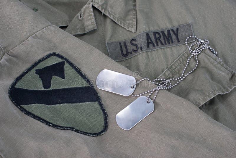 Tag de cão do exército dos EUA imagem de stock