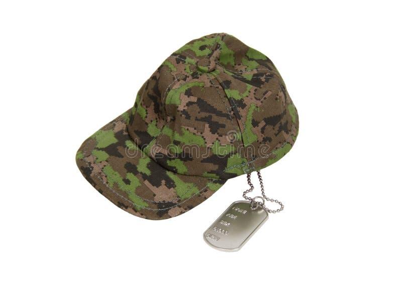 Tag de cão e tampão militar imagem de stock