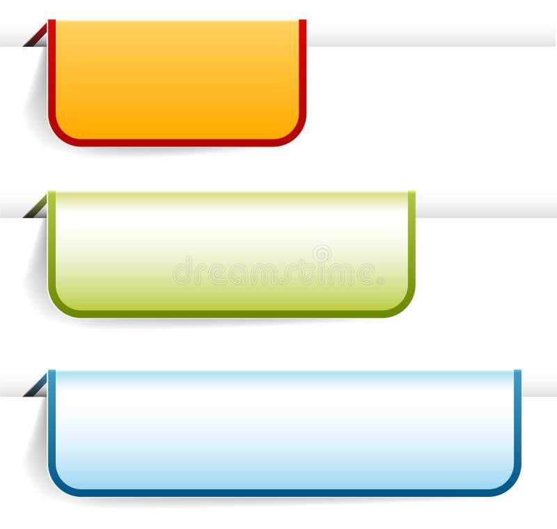 Tag de papel coloridos vazios ilustração royalty free