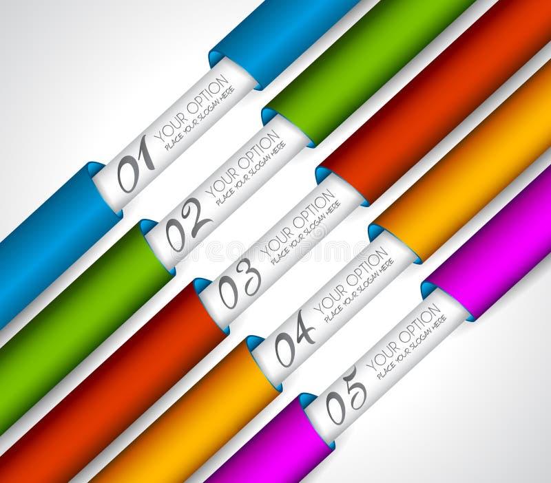 Tag de papel realísticos de Mordern para a classificação dos produtos ilustração royalty free