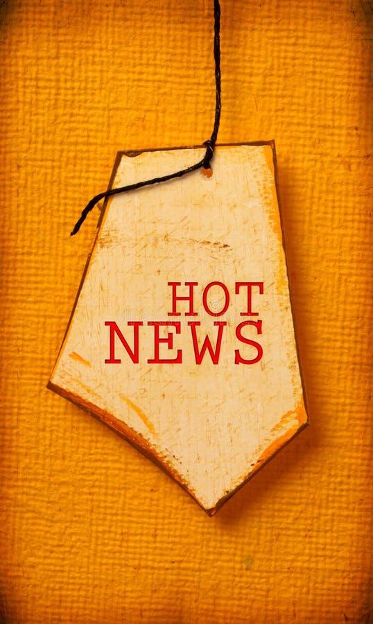 Tag de papel velho com palavra da notícia foto de stock royalty free