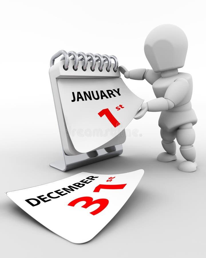 Tag der 1. Januar-neuen Jahre vektor abbildung