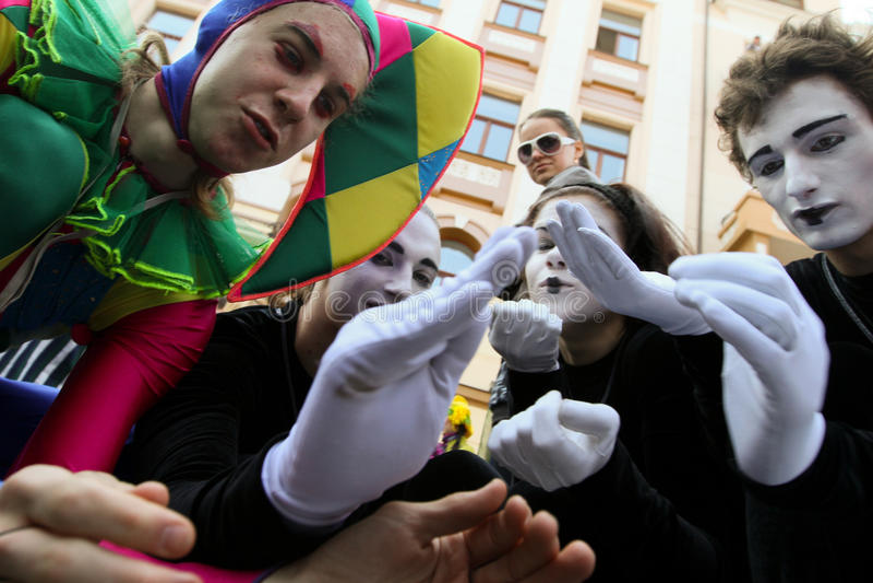 Tag der April-Dummköpfe in Odessa, Ukraine. lizenzfreie stockfotos