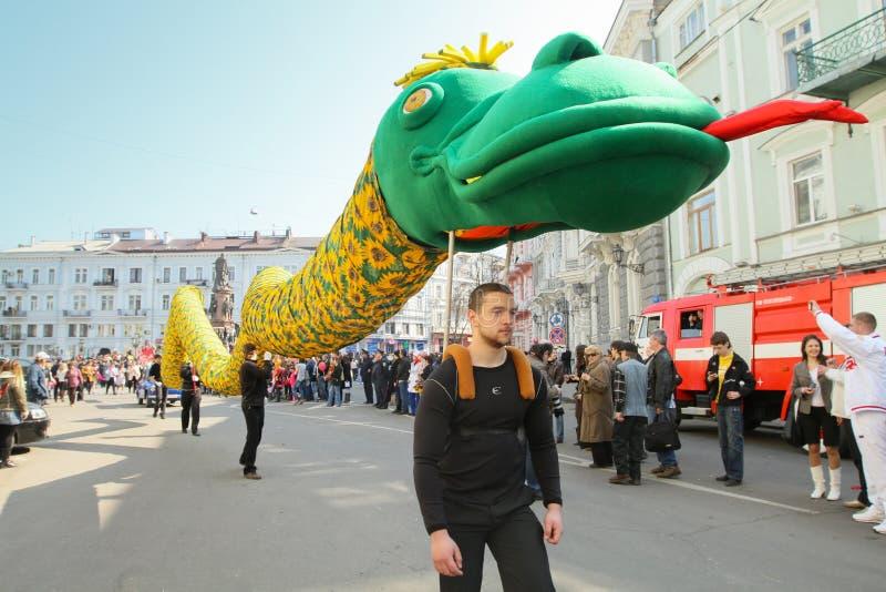Tag der April-Dummköpfe in Odessa, Ukraine. stockbilder