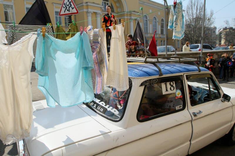 Tag der April-Dummköpfe in Ukraine. stockfotografie