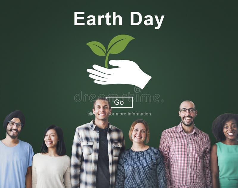 Tag der Erde-Klimaerhaltungs-Website-on-line-Konzept stockfoto