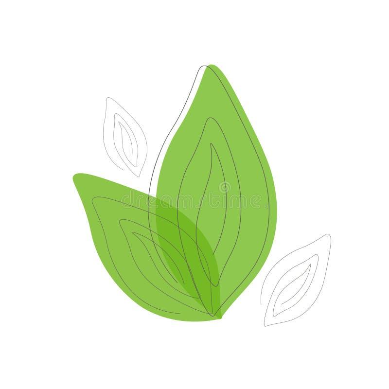Tag der Erde-Konzeptikone, Blattlogo-Vektorillustration lizenzfreie abbildung