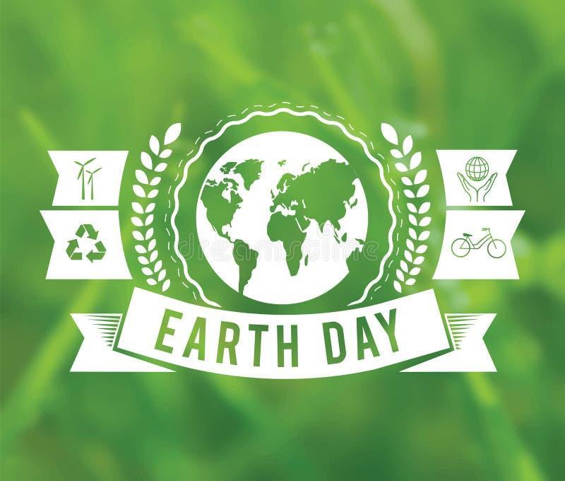 Tag der Erde-Vektor lizenzfreie abbildung
