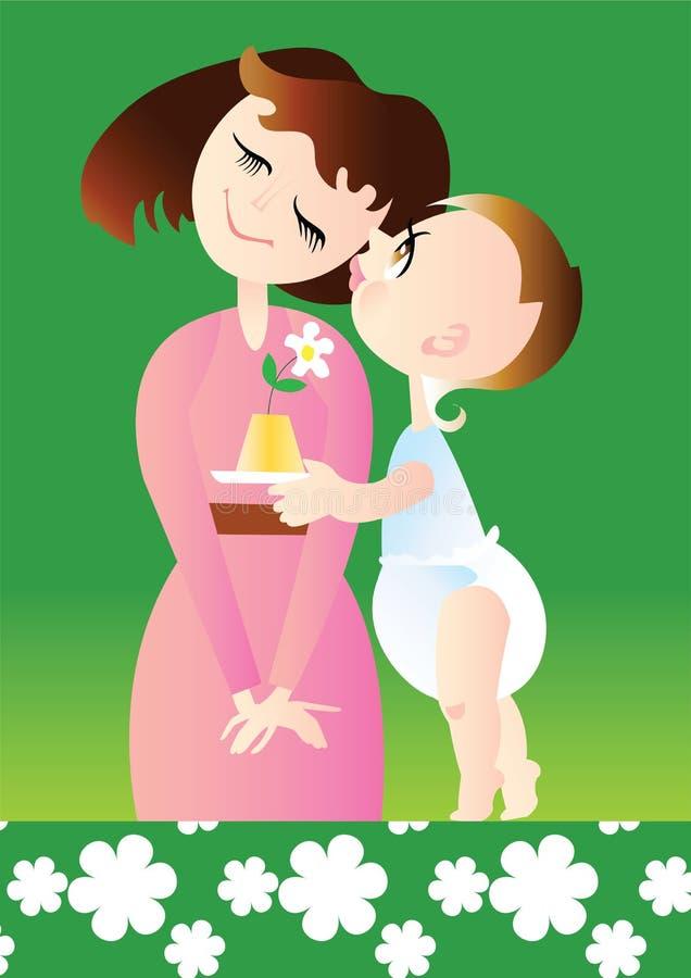 Tag der Mama lizenzfreie abbildung