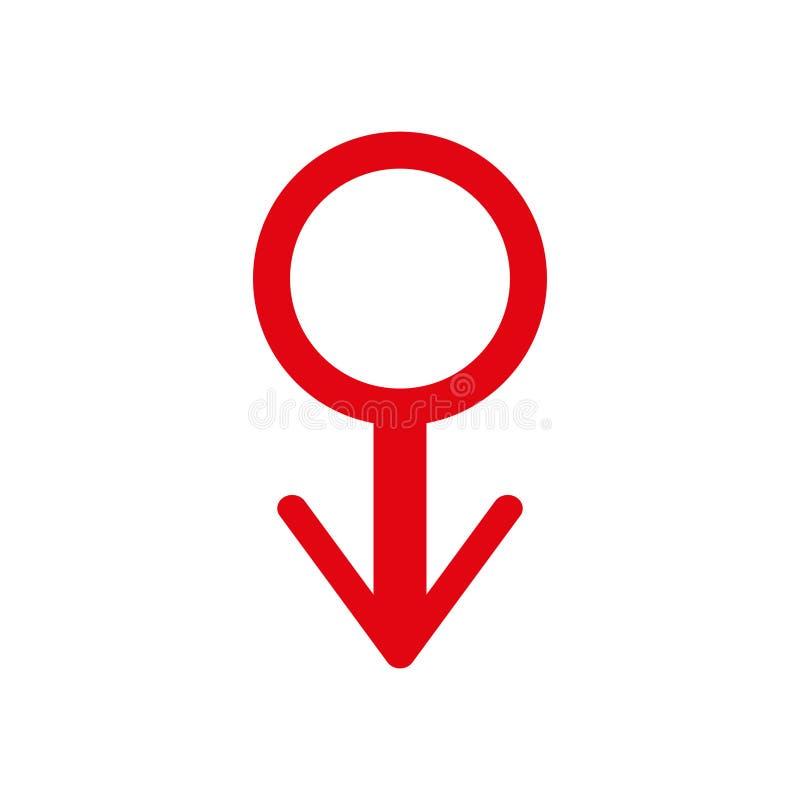 Tag der Mann-s Gesundheitswesen- und Medizinikonenzeichen Mannsymbol roter Ausweis der Ehre Abbildung 3d vektor abbildung