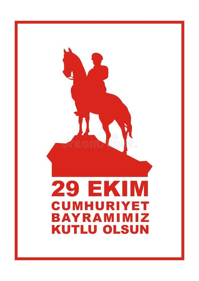 Tag der Republik in der Türkei lizenzfreie abbildung