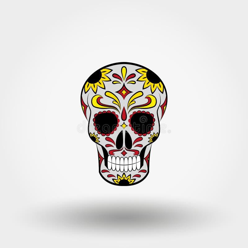 Tag der Toten schädel mexikanisch lizenzfreie abbildung