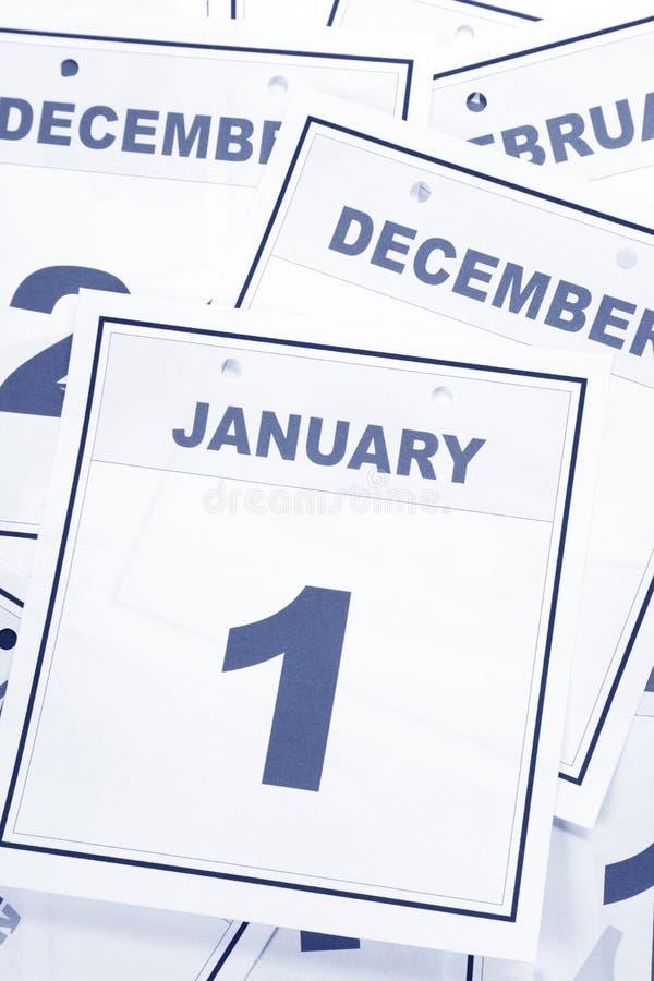Tag des Kalender-neuen Jahres lizenzfreies stockbild
