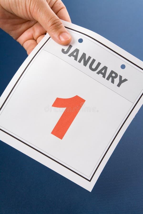 Tag des Kalender-neuen Jahres stockfotografie