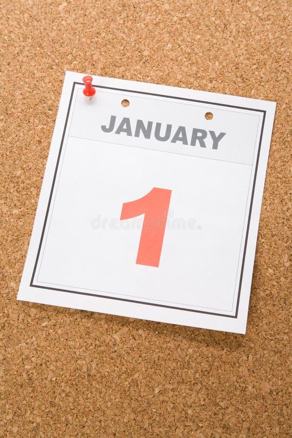 Tag des Kalender-neuen Jahres stockbilder