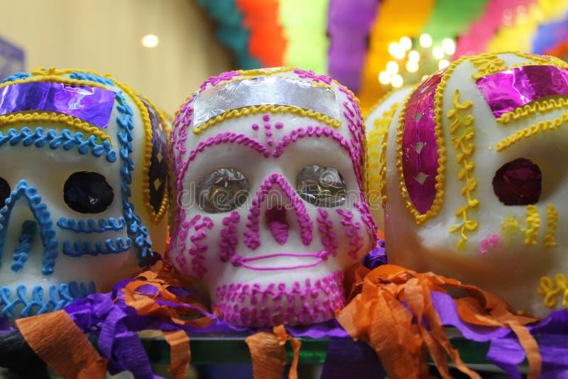 Tag des Todes Traditionelle mexikanische Süßigkeit lizenzfreies stockfoto