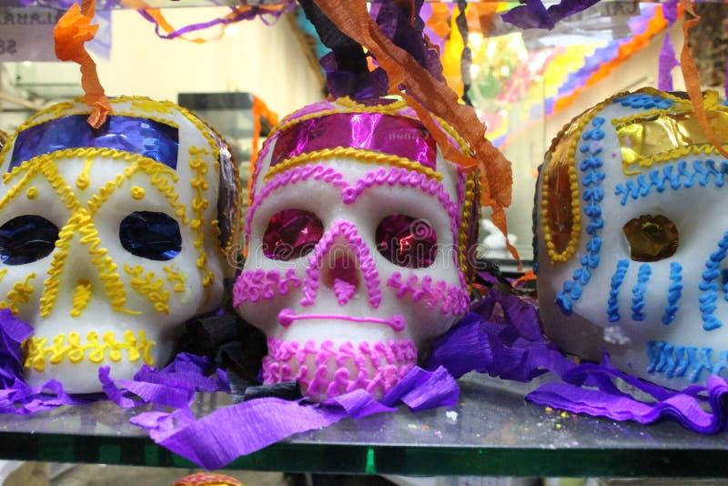 Tag des Todes Traditionelle mexikanische Süßigkeit stockfoto
