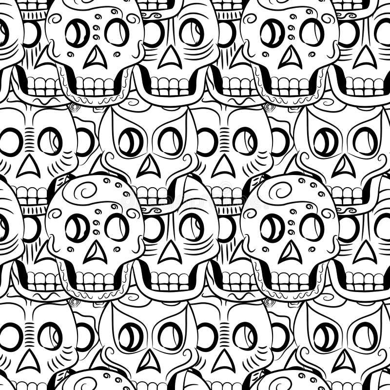 Tag des toten Sugar Skull-Musters vektor abbildung