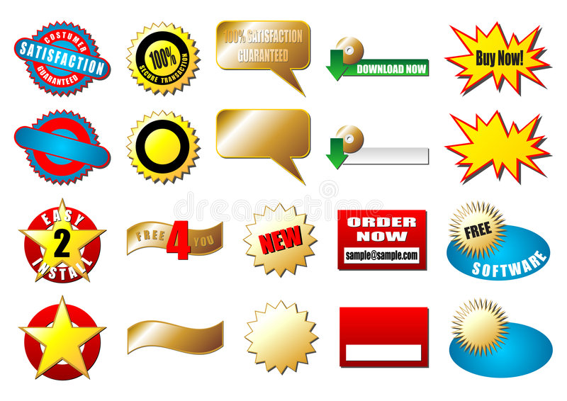 Tag do comércio electrónico ilustração royalty free