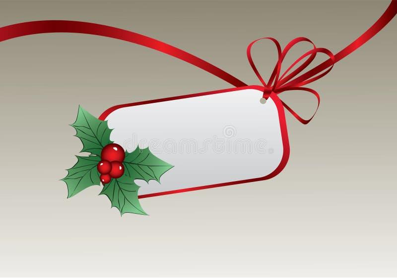 Tag do Natal ilustração royalty free