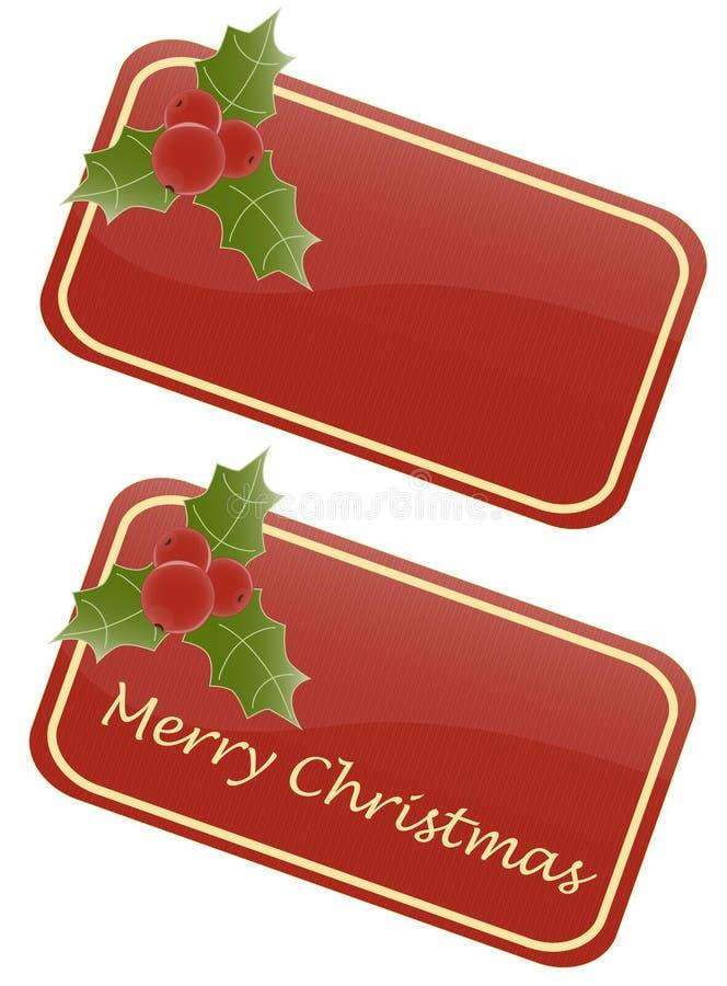 Tag do Natal ilustração stock
