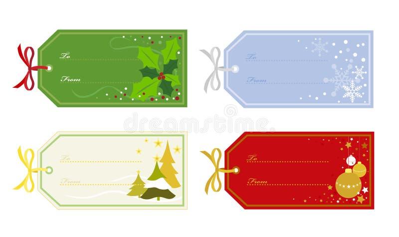 Tag do presente do Natal ilustração stock