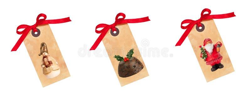 Tag do presente do Natal imagem de stock