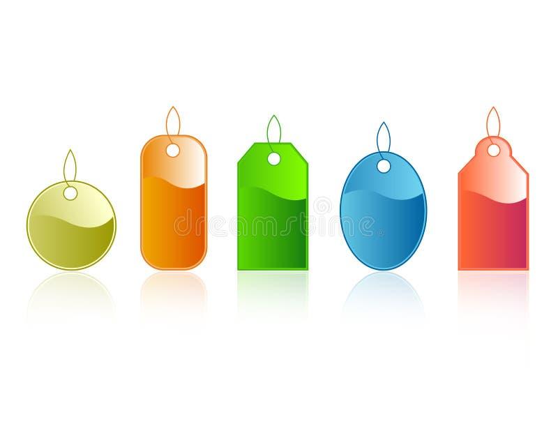Tag do presente/etiquetas brilhantes ilustração royalty free