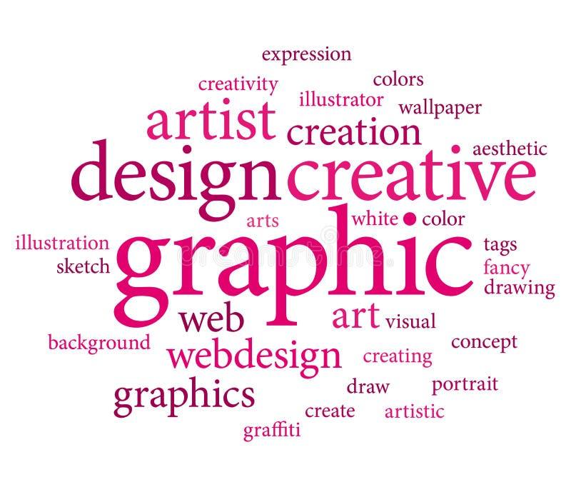 Tag do projeto gráfico ilustração royalty free