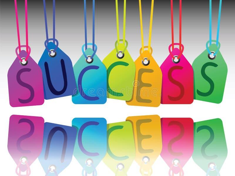 Tag do sucesso ilustração royalty free