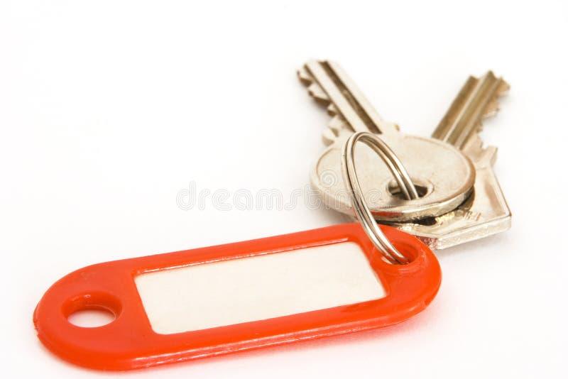 Tag e chaves fotografia de stock royalty free