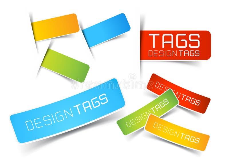Tag e etiquetas do projeto ilustração royalty free