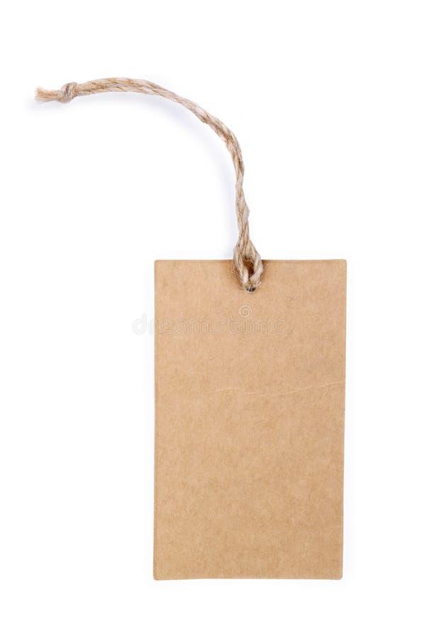 Tag em branco amarrado Preço, Tag do presente, Tag da venda, etiqueta de endereço, etc imagem de stock