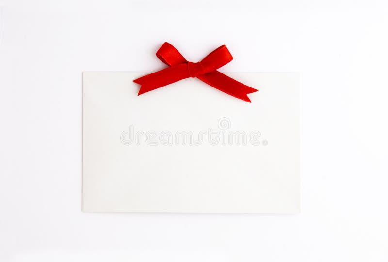 Tag em branco com curva vermelha fotos de stock royalty free