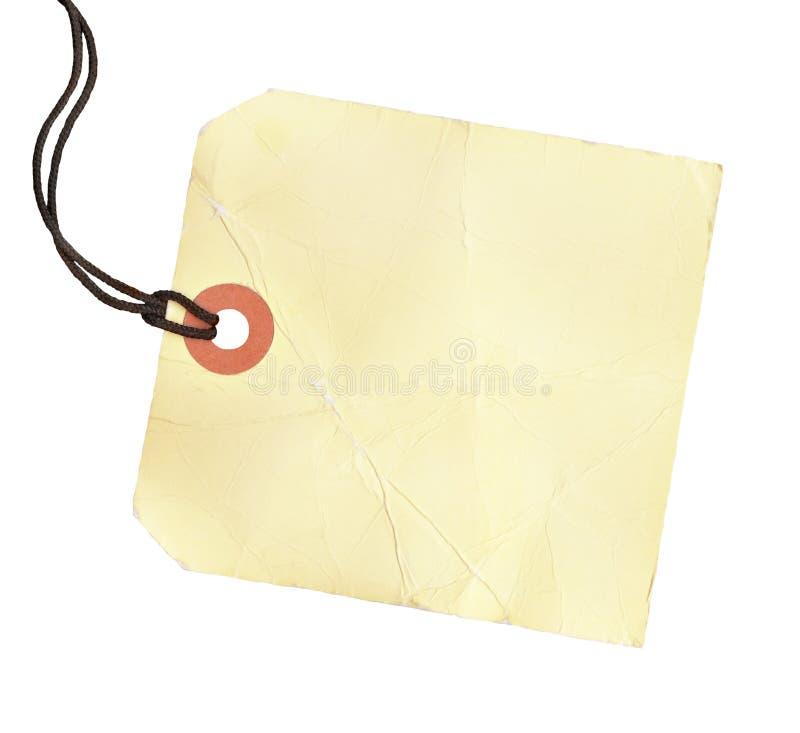 Tag em branco quadrado foto de stock