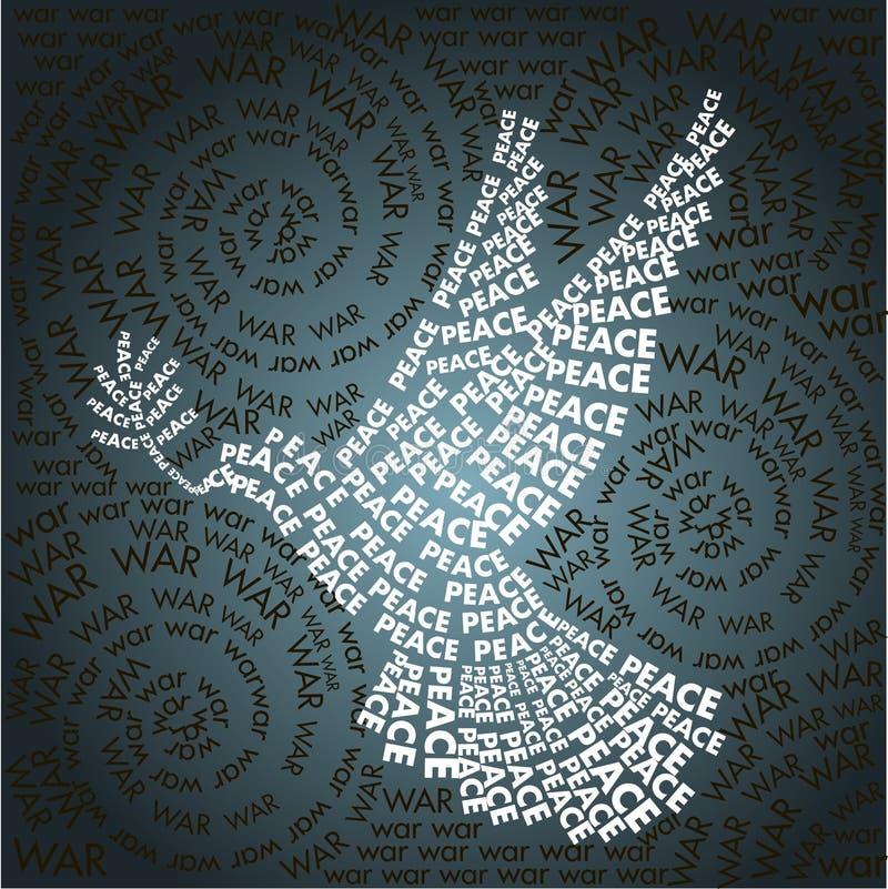 Tag in Form bezogen vom Friedenssymbol stock abbildung