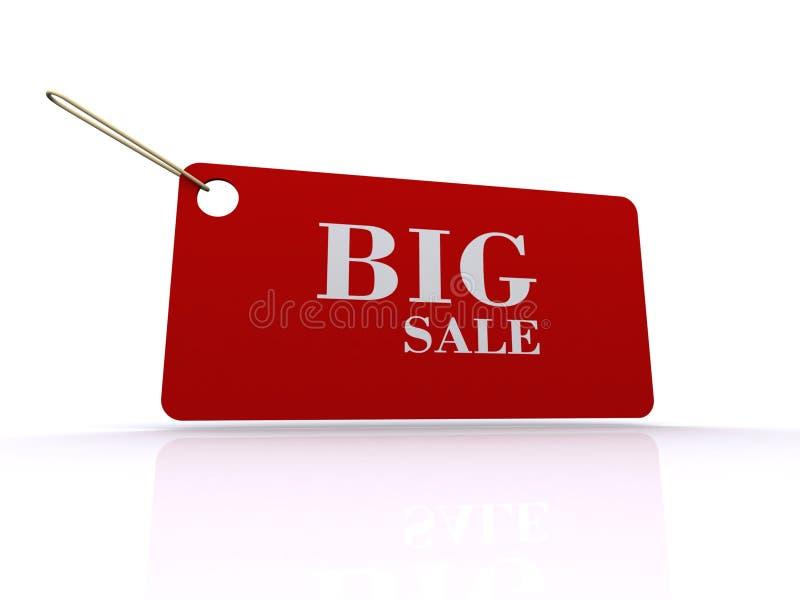 Tag grande da venda imagem de stock