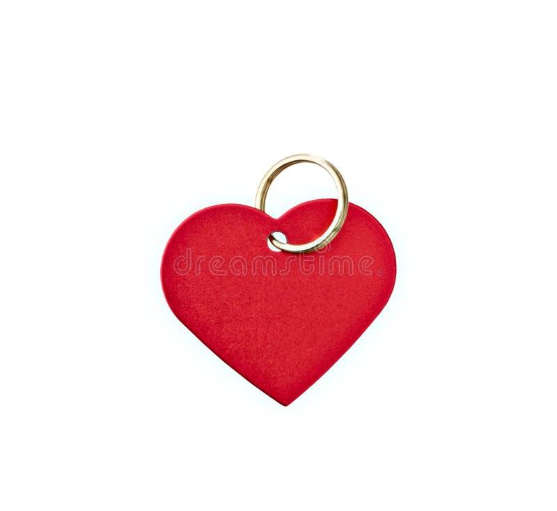 Tag heart-shaped do metal vermelho imagem de stock royalty free