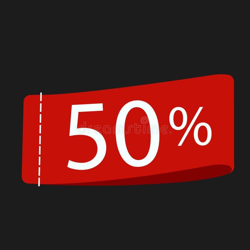 50 tag icon, vector illustration. Flat design style stock illustration