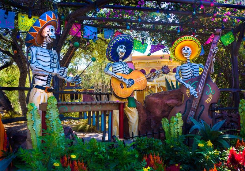 Tag Los Muertos der toten Musiker lizenzfreies stockfoto