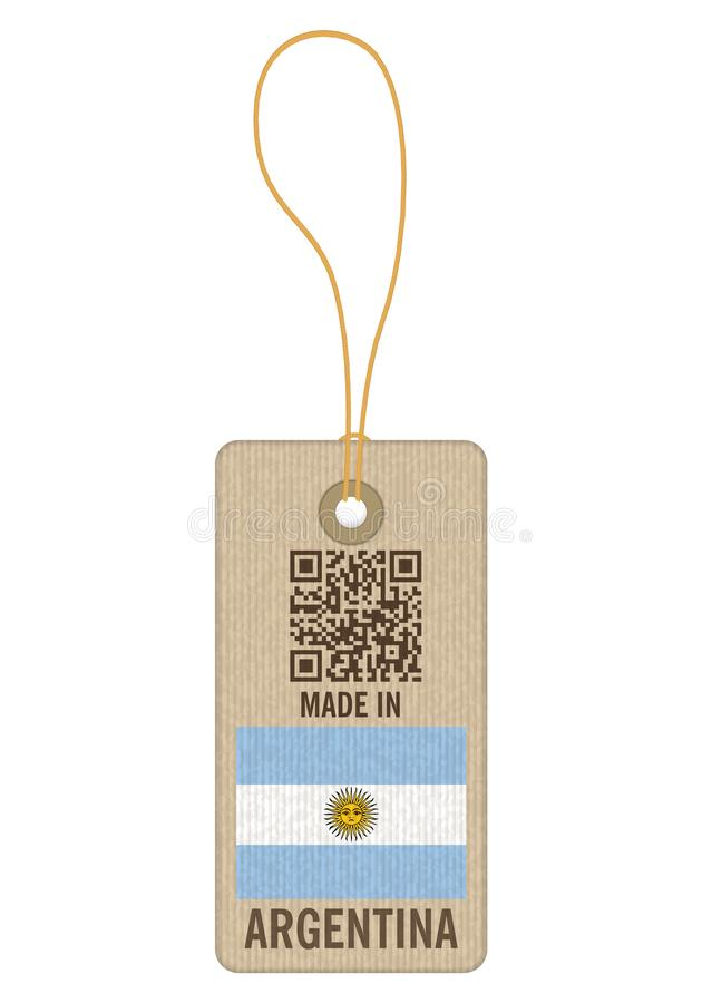 Tag made in Argentina. On a white background vector illustration