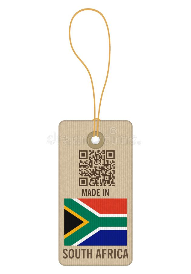 Tag made in South Africa royalty free illustration