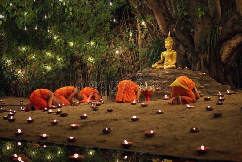 Tag Makha Bucha, Chiangmai, Thailand lizenzfreies stockbild
