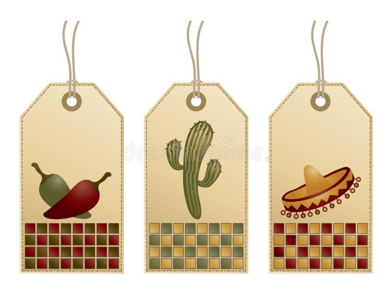 Tag mexicanos ilustração stock